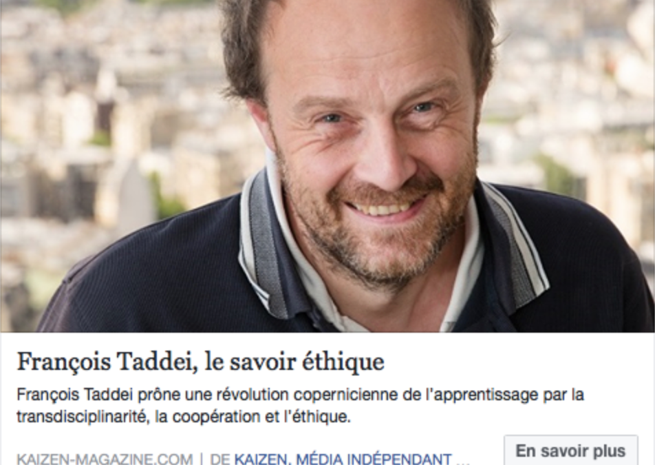 François Taddei : a revolutionary and inspiring personality for Hub School 21